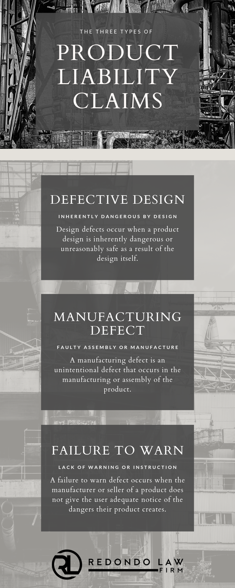 Infographic on the type of product defects