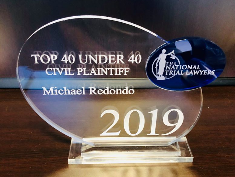 Michael Redondo Top 40 Under 40 Award