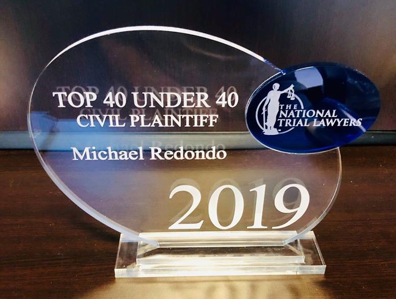 Michael Redondo Top 40 Under 40 Award