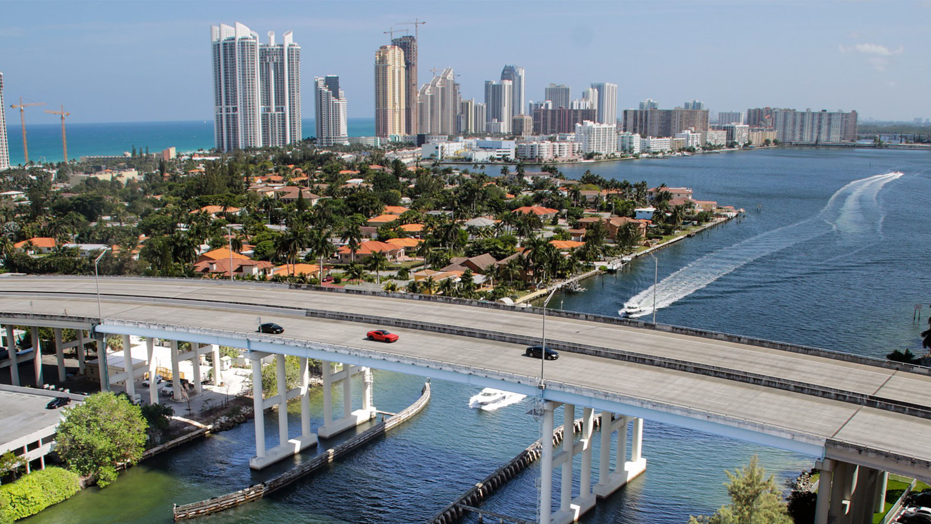 view of Miami Florida from above
