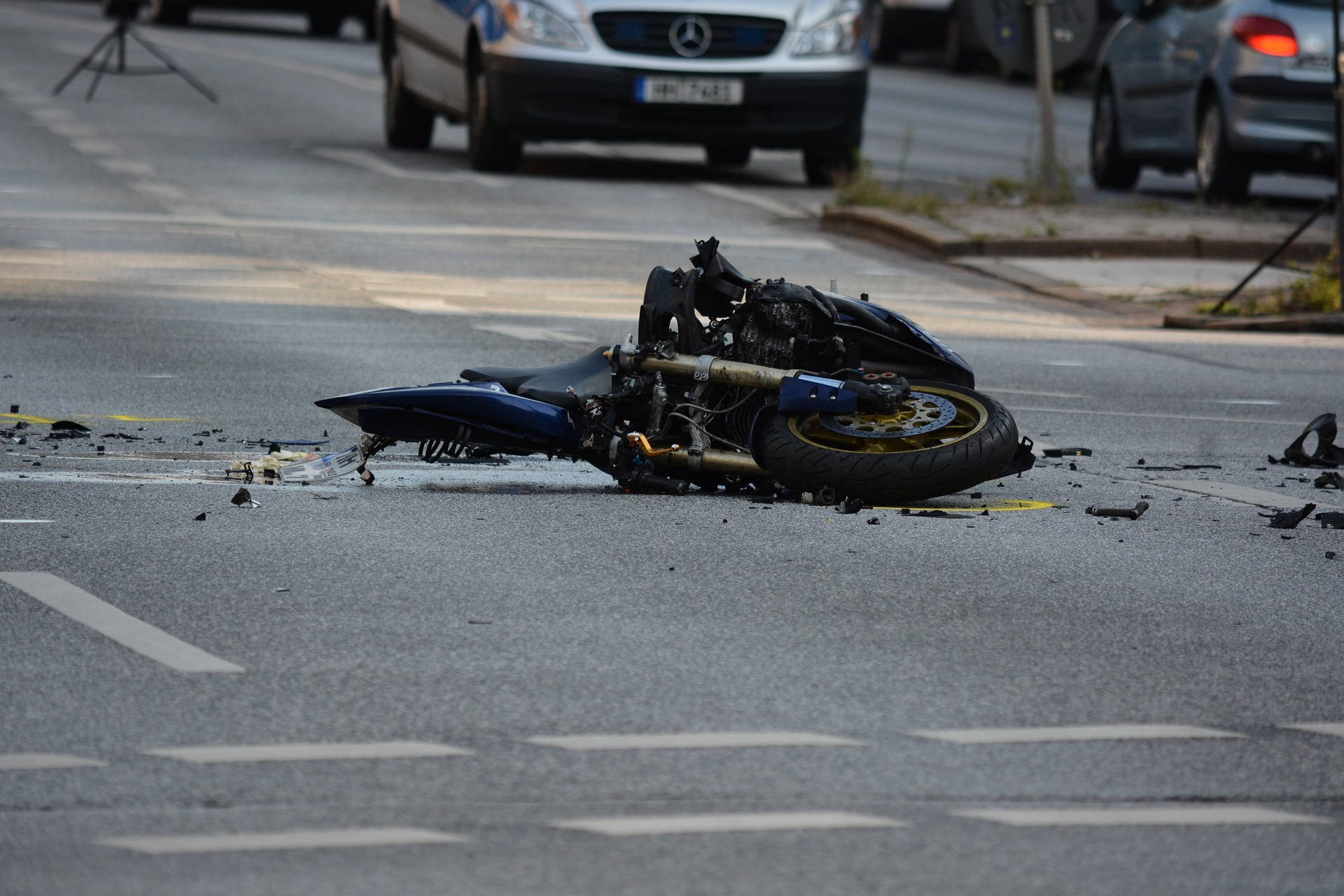 A Wrecked Motorcycle