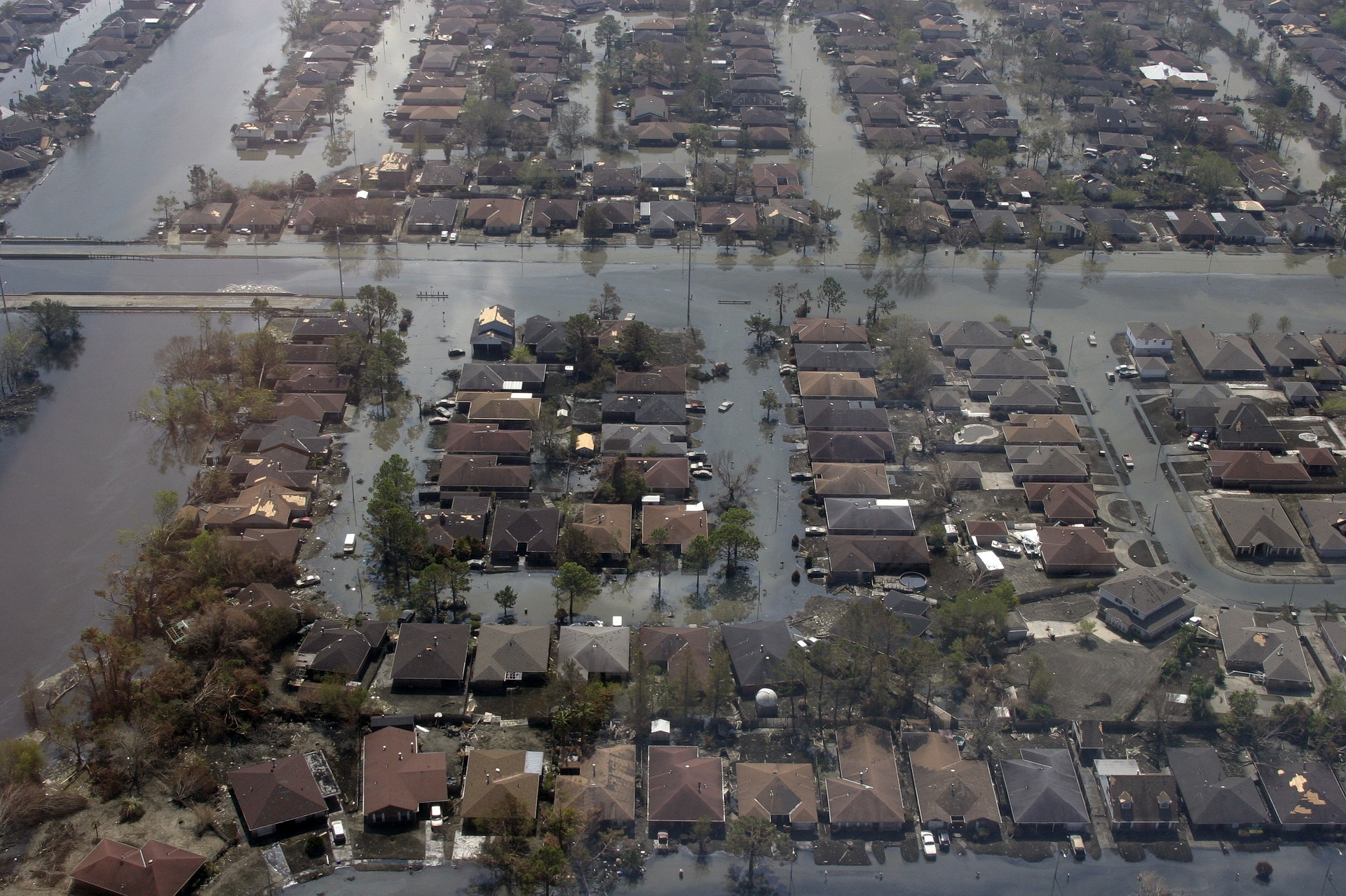 Flooded Subdivisions After Hurricane