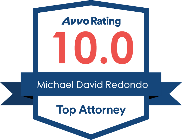Avvo Rating 10.0 Michael David Redondo Top Attorney